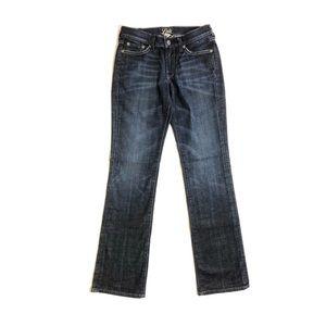 Lucky Brand Midrise Straight Leg Medium Wash Jeans